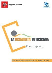 Primo rapporto sulla disabilità in Toscana