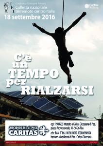 Locandina terremoto CEI Caritas Pisa